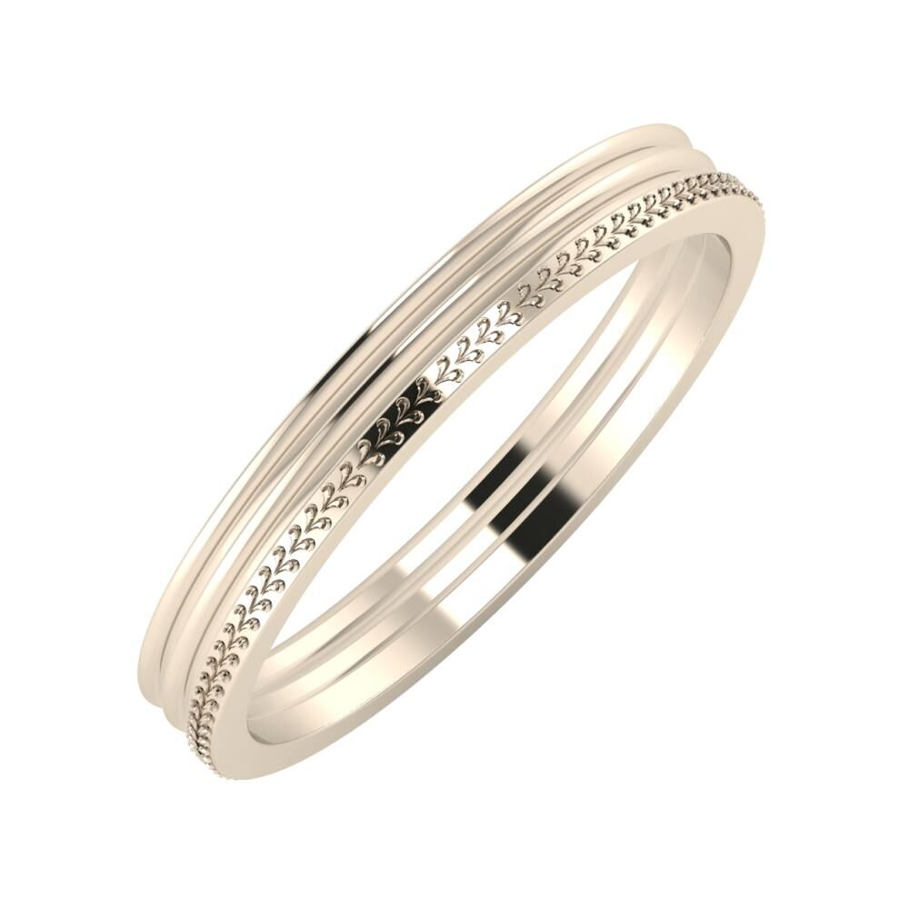 Agrippína - Agrippína - Aglája 3mm 22 karátos rosé arany karikagyűrű