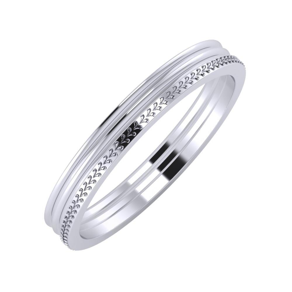 Agrippína - Agrippína - Aglája 3mm platina karikagyűrű