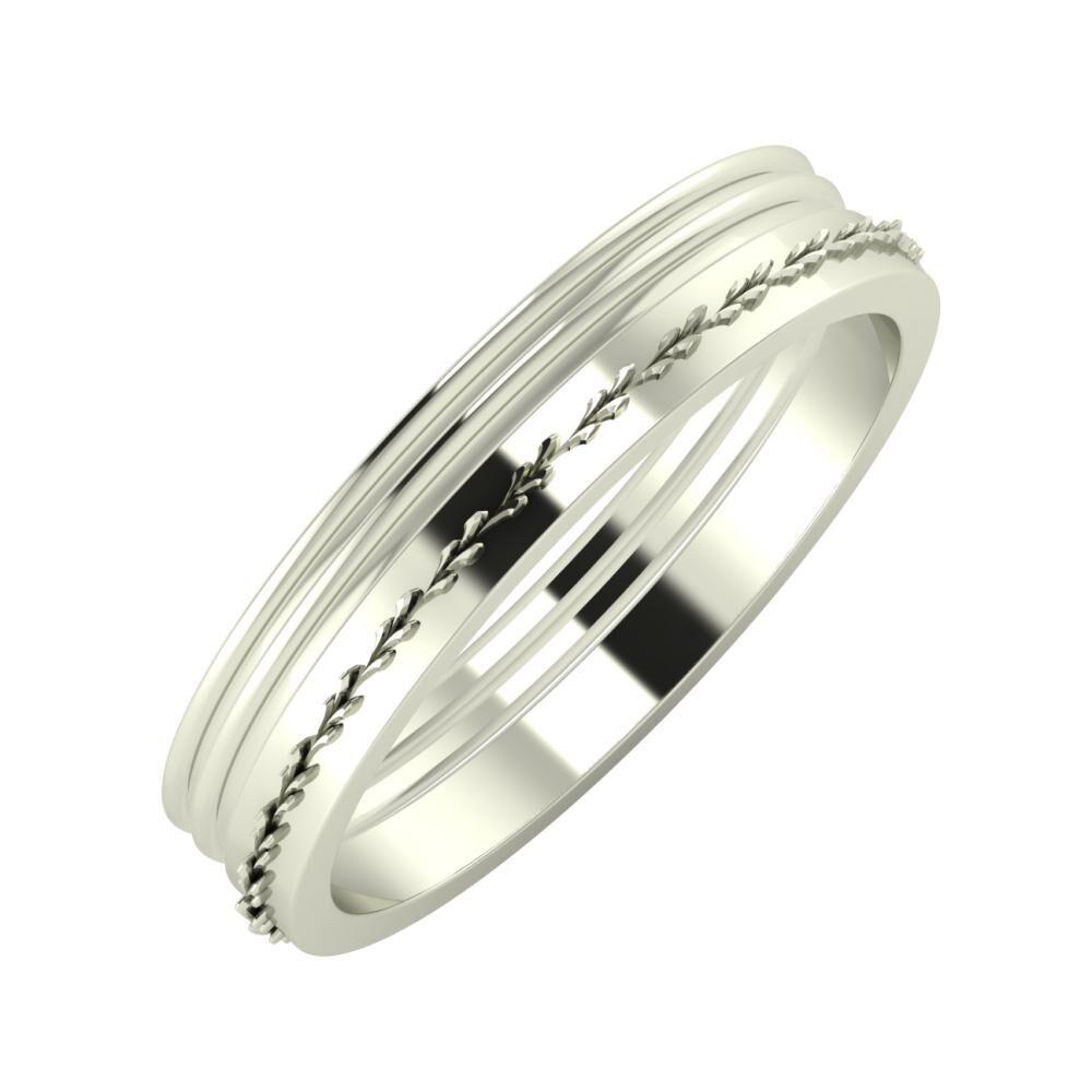 Agrippína - Agrippína - Aglent 4mm 14 karátos fehér arany karikagyűrű