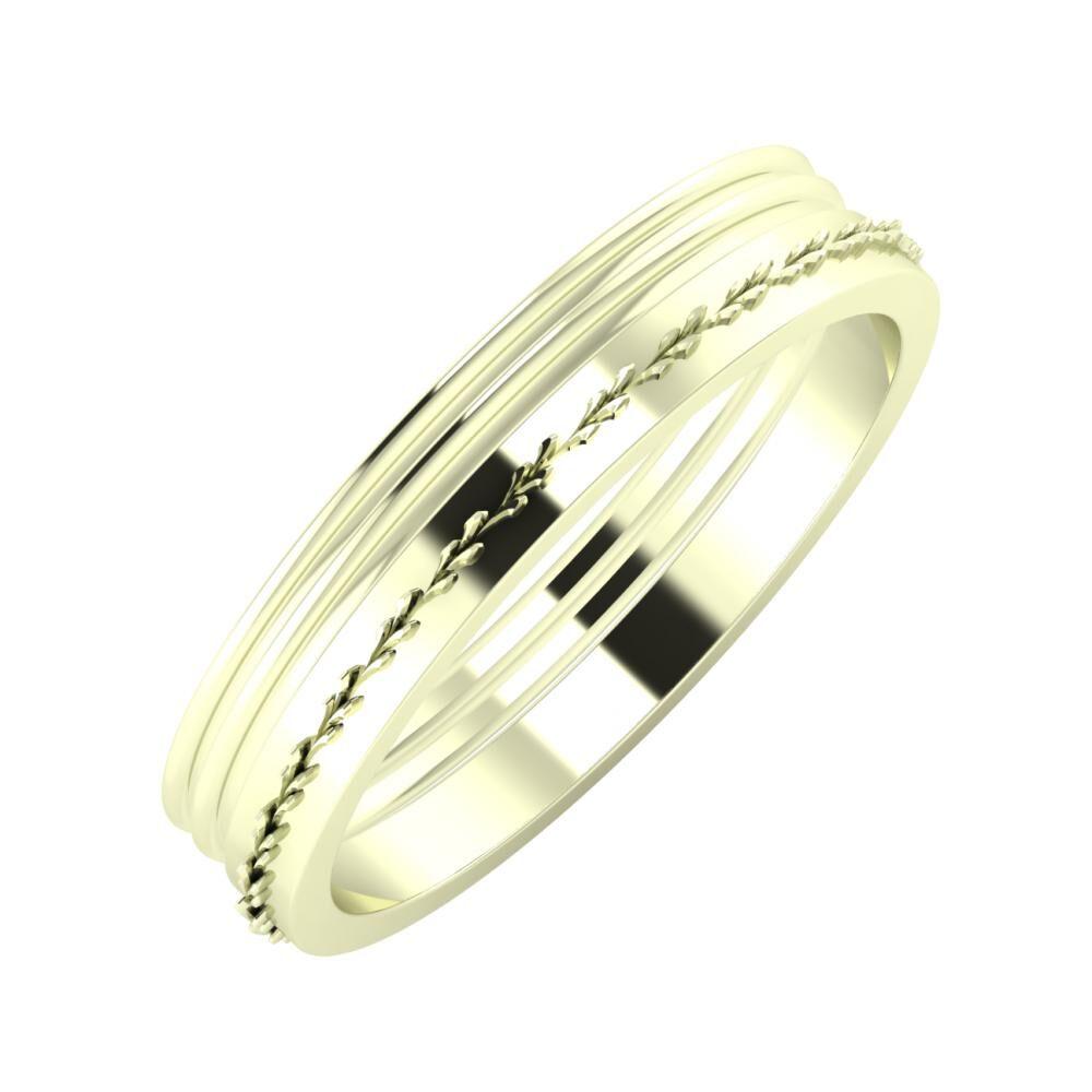 Agrippína - Agrippína - Aglent 4mm 22 karátos fehér arany karikagyűrű
