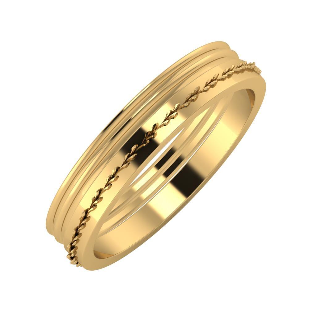 Agrippína - Agrippína - Aglent 4mm 18 karátos sárga arany karikagyűrű