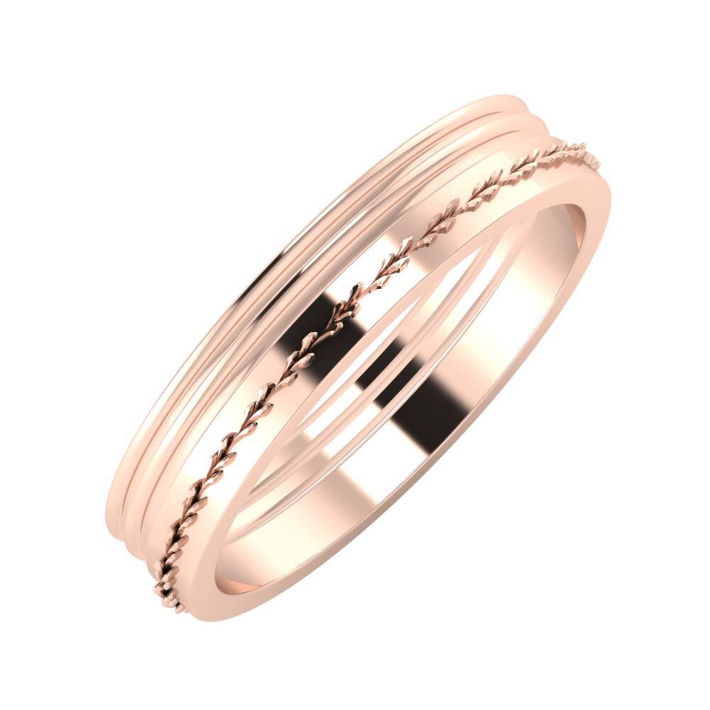 Agrippína - Agrippína - Aglent 4mm 18 karátos rosé arany karikagyűrű