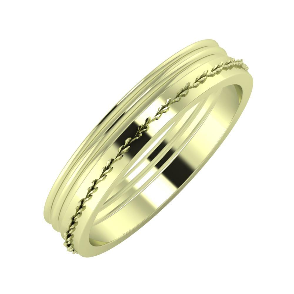 Agrippína - Agrippína - Aglent 4mm 14 karátos zöld arany karikagyűrű