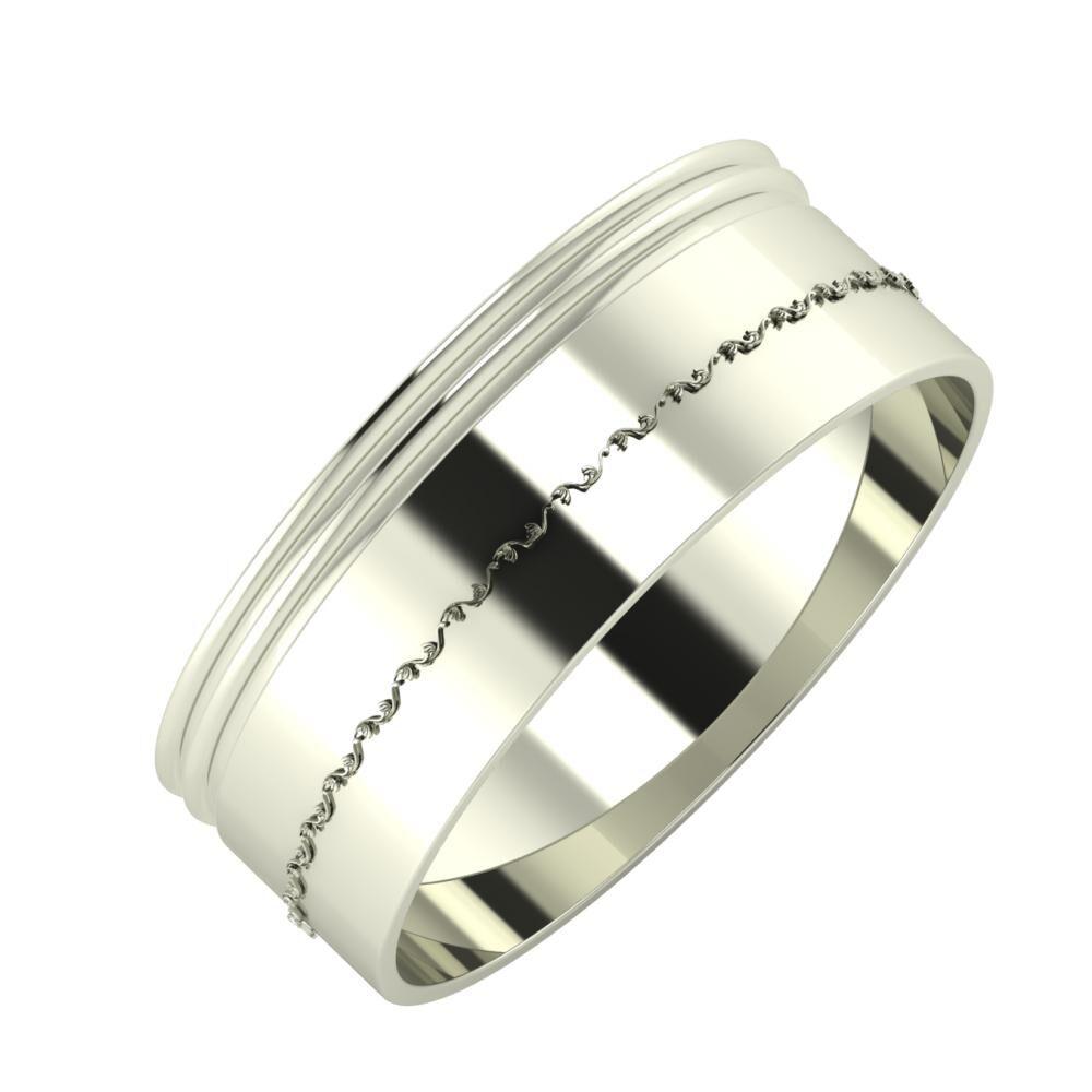 Agrippína - Agrippína - Agnabella 7mm 18 karátos fehér arany karikagyűrű
