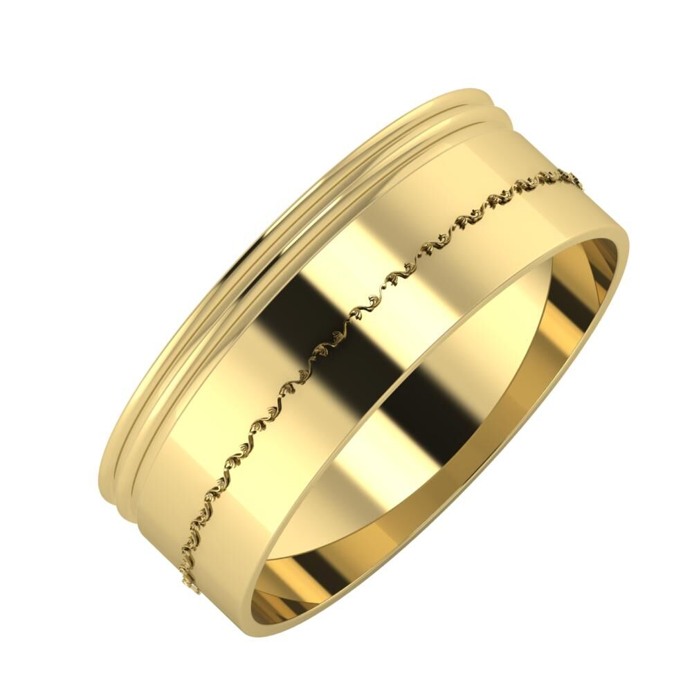 Agrippína - Agrippína - Agnabella 7mm 14 karátos sárga arany karikagyűrű