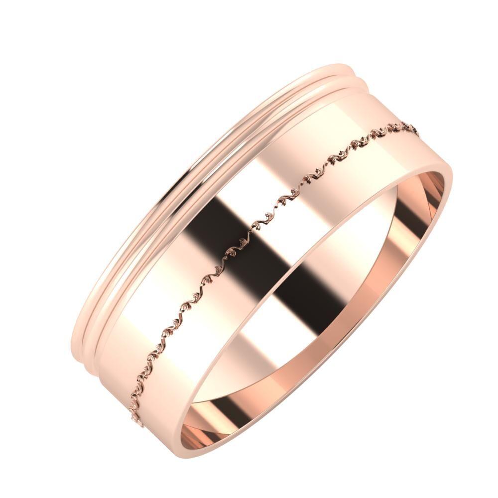 Agrippína - Agrippína - Agnabella 7mm 18 karátos rosé arany karikagyűrű