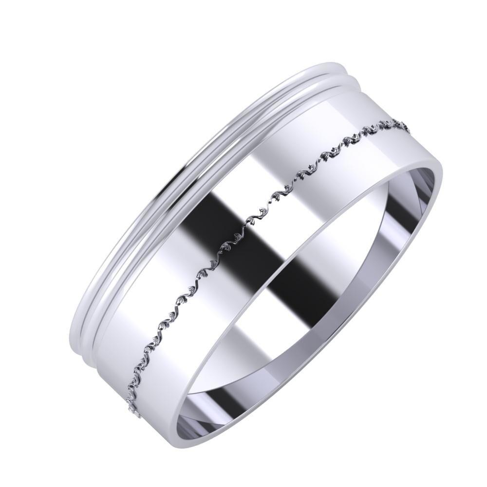 Agrippína - Agrippína - Agnabella 7mm platina karikagyűrű