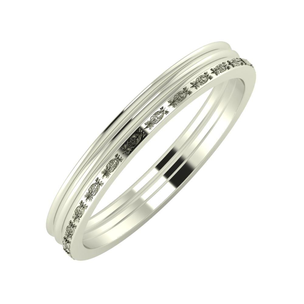 Agrippína - Agrippína - Agnella 3mm 18 karátos fehér arany karikagyűrű