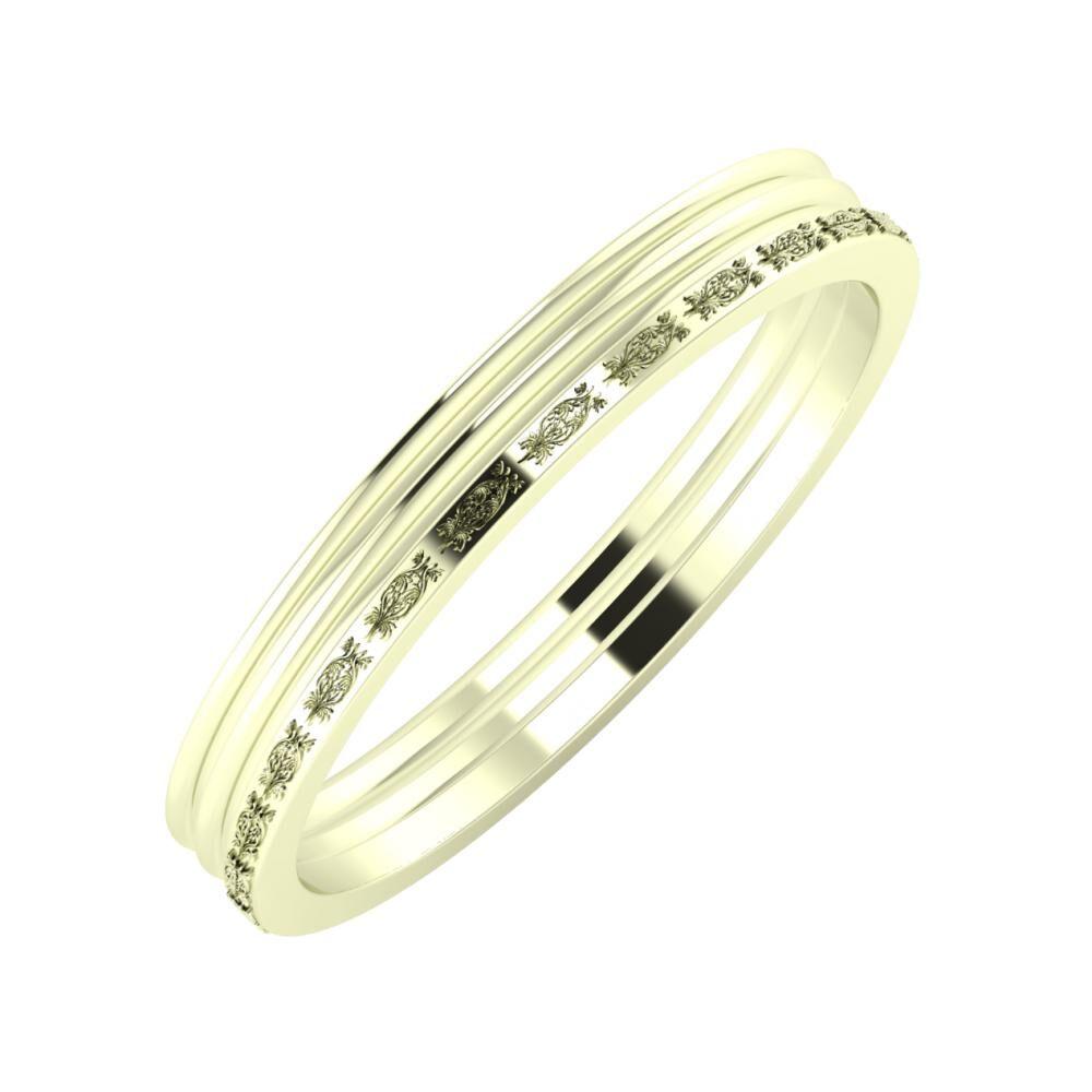 Agrippína - Agrippína - Agnella 3mm 22 karátos fehér arany karikagyűrű
