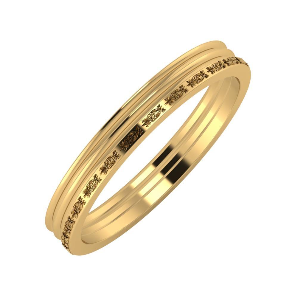 Agrippína - Agrippína - Agnella 3mm 18 karátos sárga arany karikagyűrű