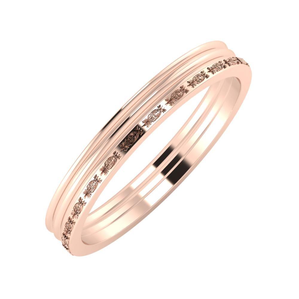 Agrippína - Agrippína - Agnella 3mm 14 karátos rosé arany karikagyűrű