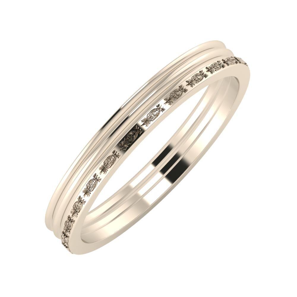 Agrippína - Agrippína - Agnella 3mm 22 karátos rosé arany karikagyűrű