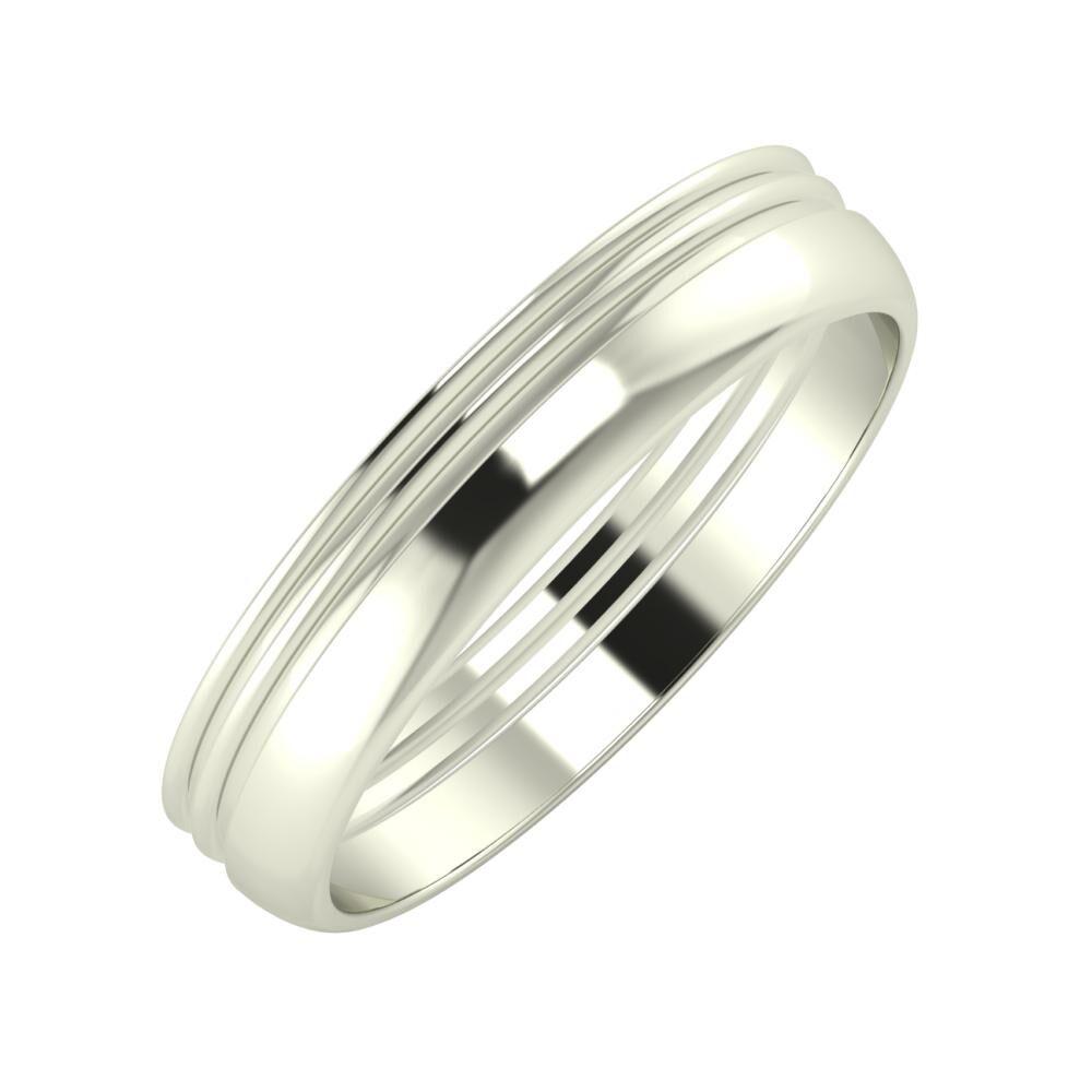 Agrippína - Agrippína - Ágosta 4mm 14 karátos fehér arany karikagyűrű