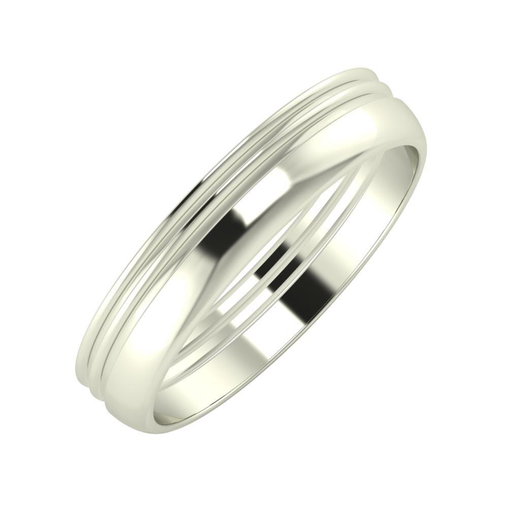 Agrippína - Agrippína - Ágosta 4mm 18 karátos fehér arany karikagyűrű