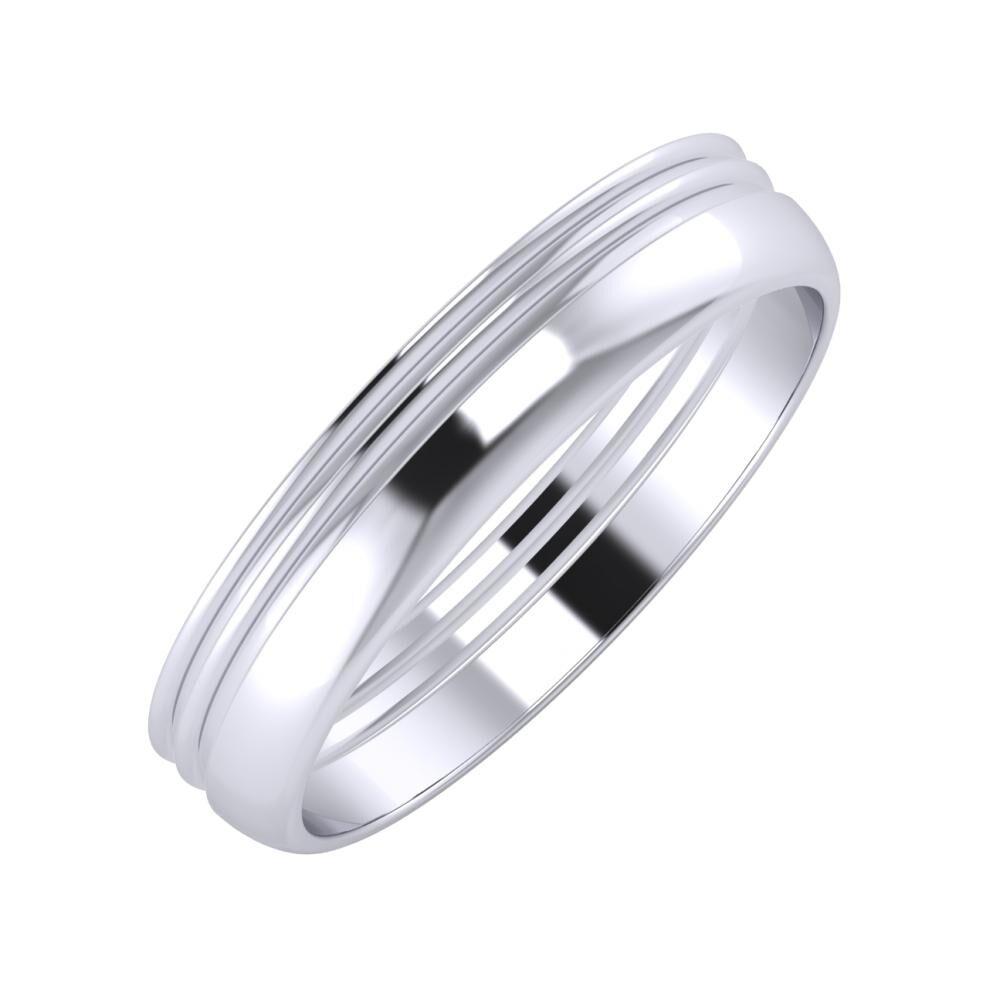Agrippína - Agrippína - Ágosta 4mm platina karikagyűrű