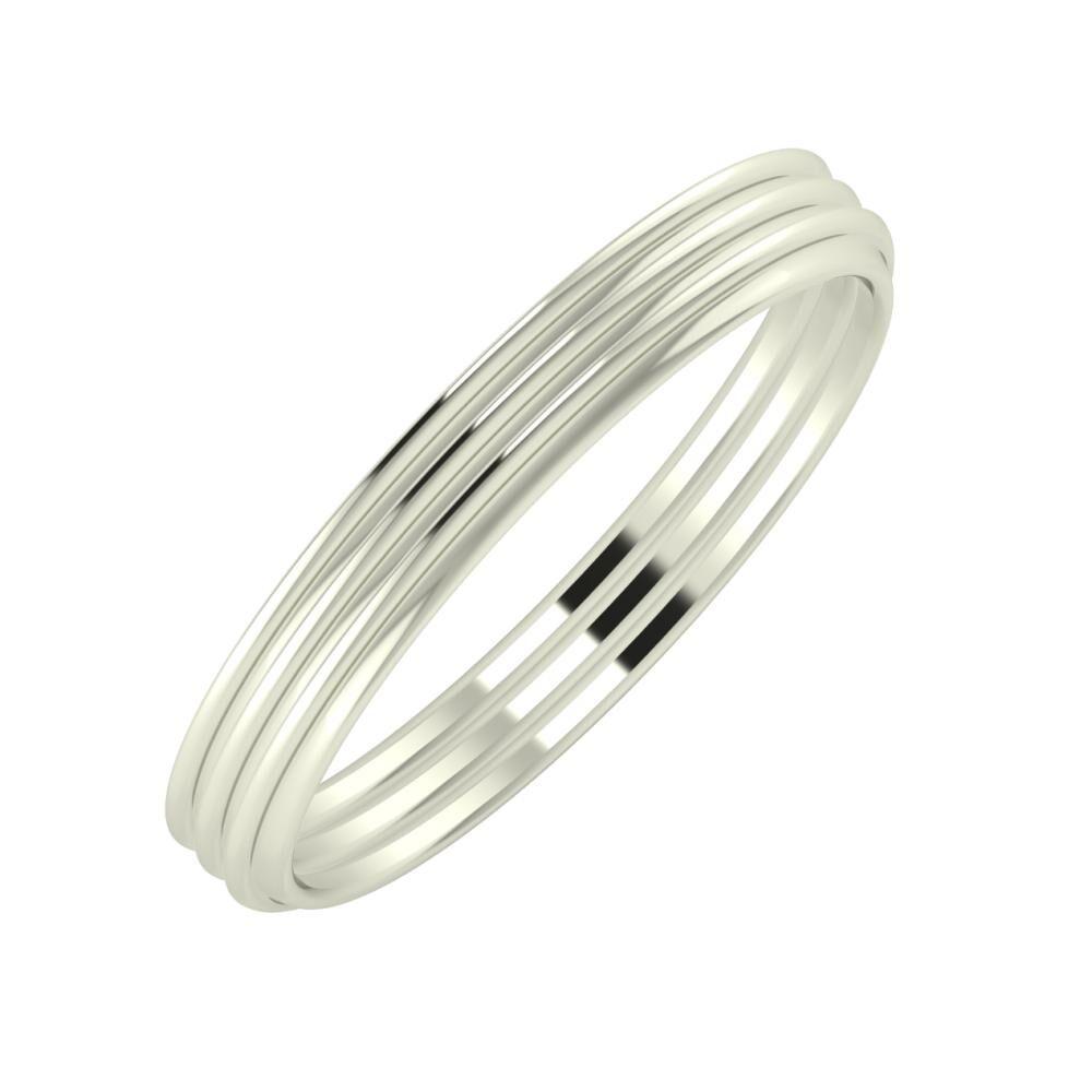 Agrippína - Agrippína - Agrippína 3mm 14 karátos fehér arany karikagyűrű