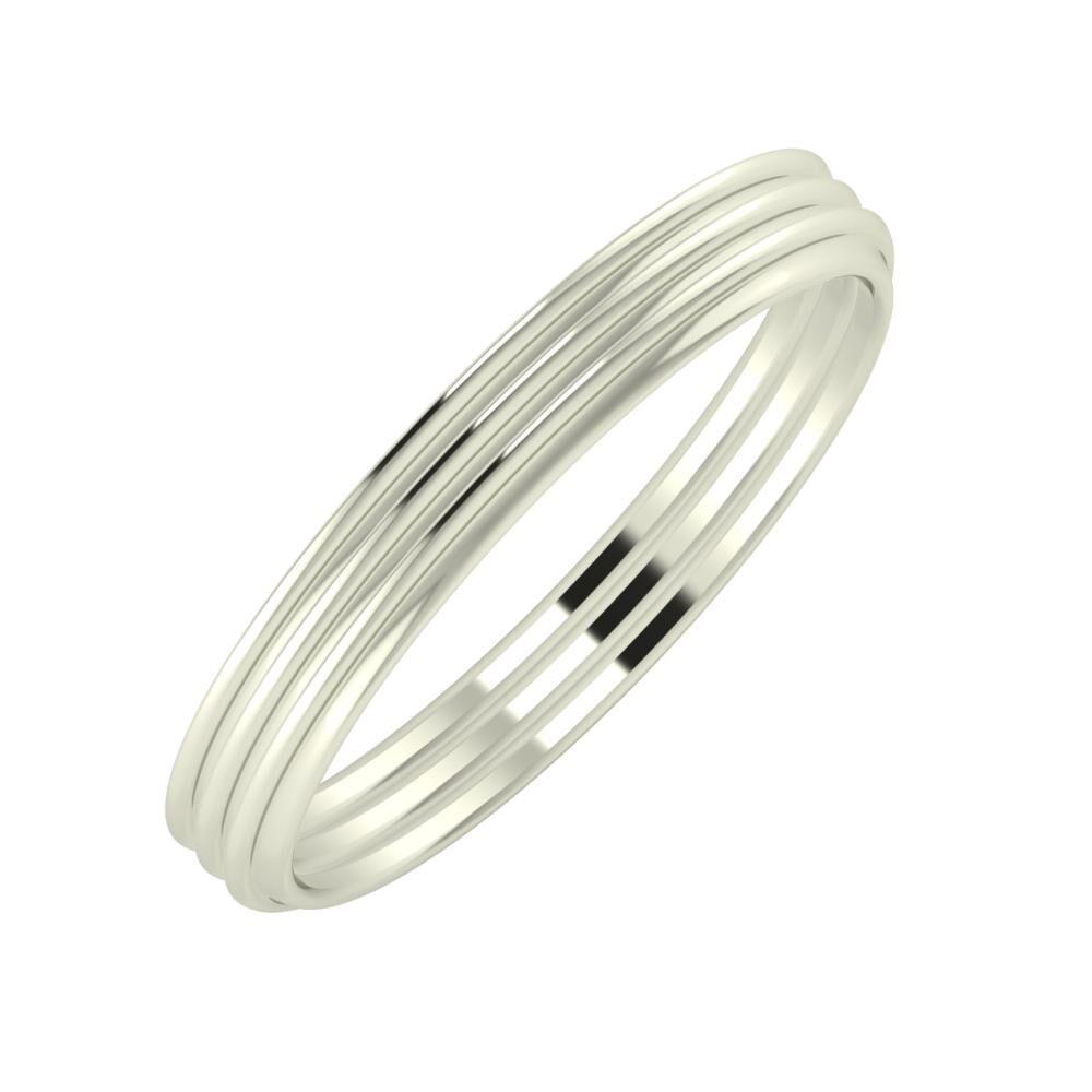 Agrippína - Agrippína - Agrippína 3mm 18 karátos fehér arany karikagyűrű