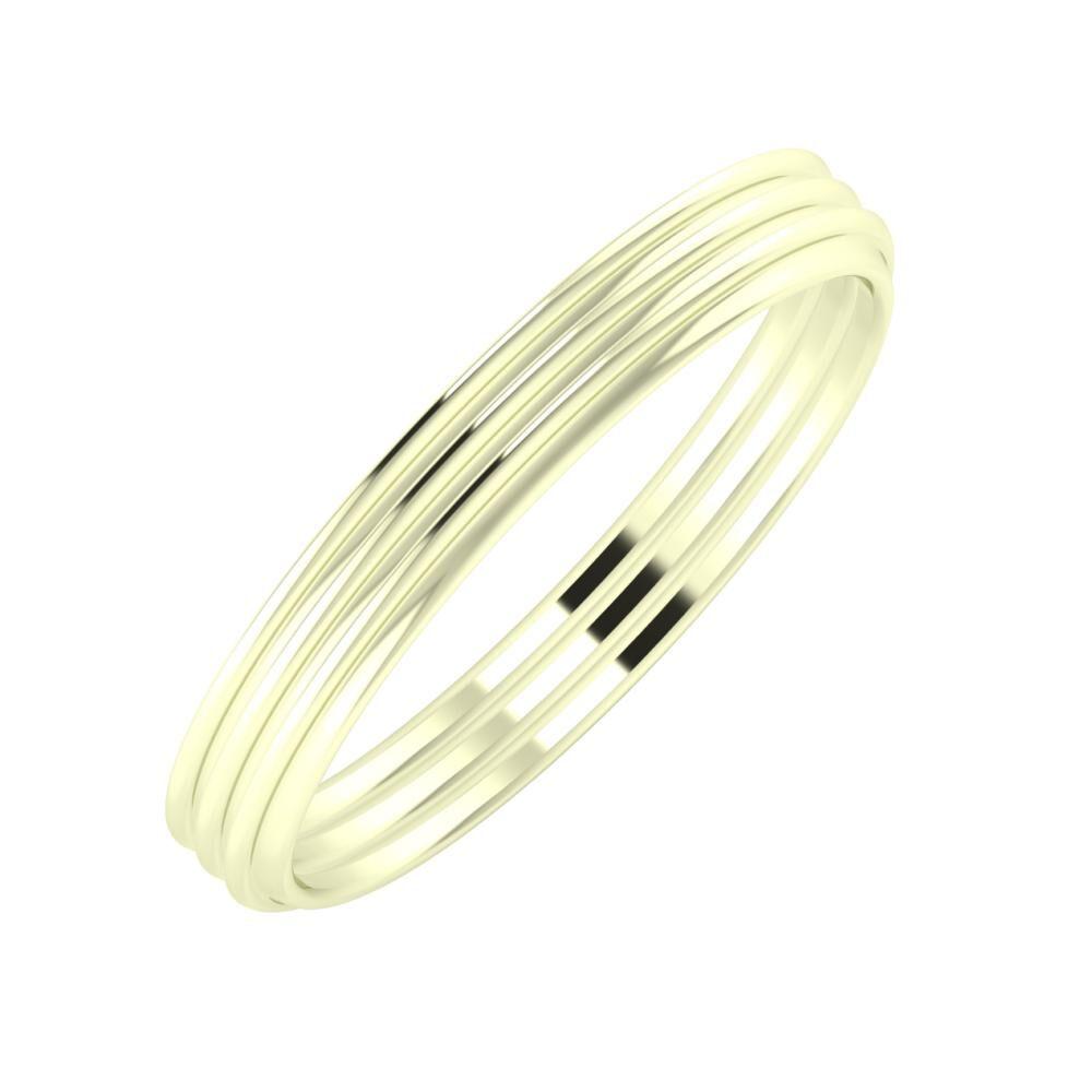 Agrippína - Agrippína - Agrippína 3mm 22 karátos fehér arany karikagyűrű