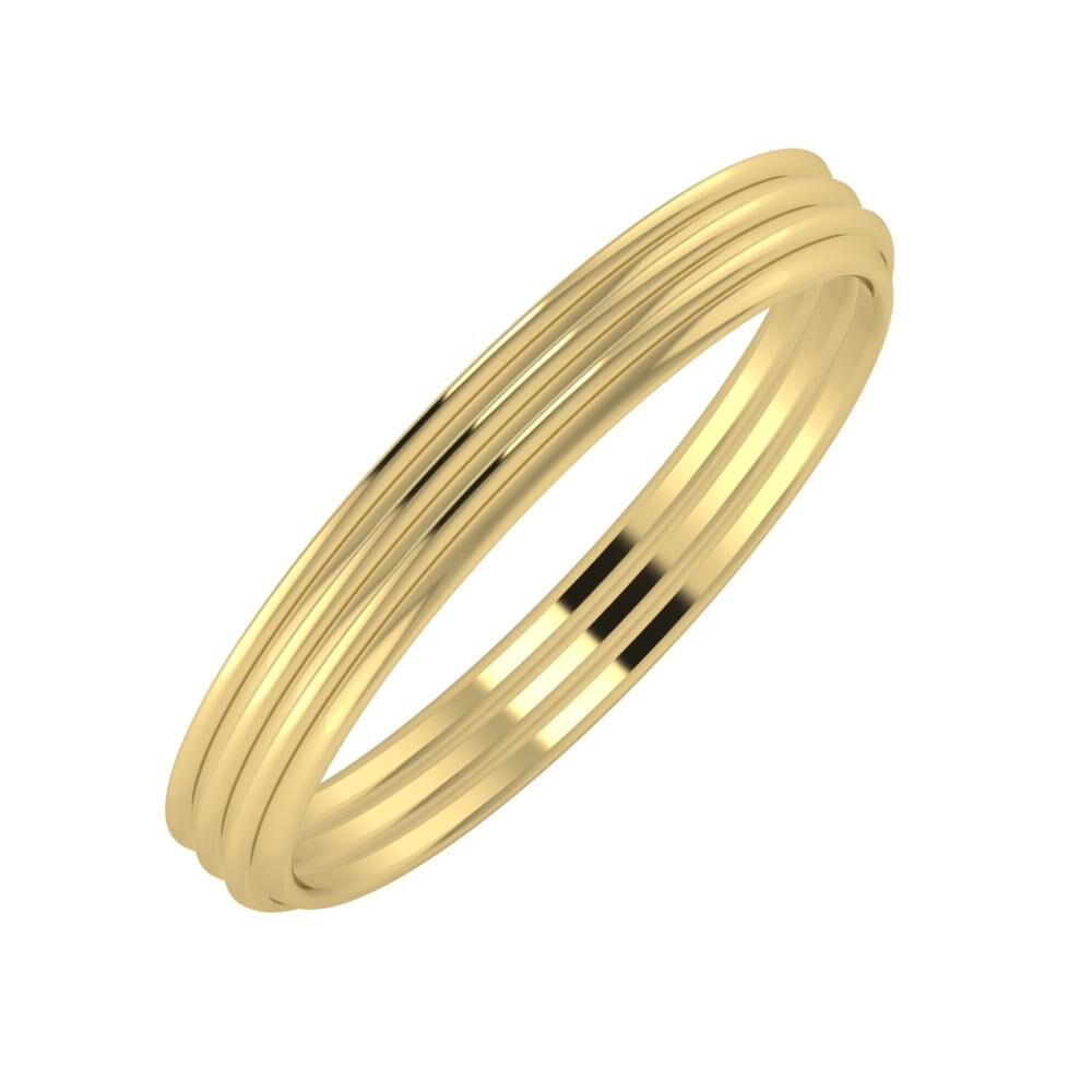 Agrippína - Agrippína - Agrippína 3mm 14 karátos sárga arany karikagyűrű