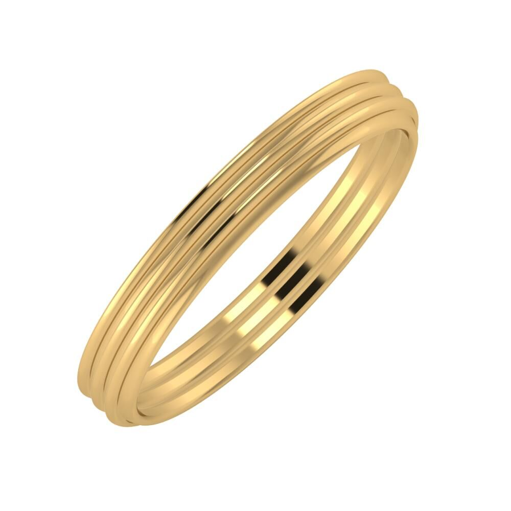 Agrippína - Agrippína - Agrippína 3mm 18 karátos sárga arany karikagyűrű