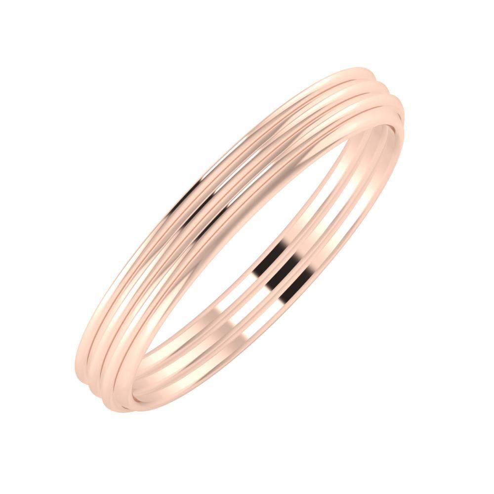 Agrippína - Agrippína - Agrippína 3mm 18 karátos rosé arany karikagyűrű
