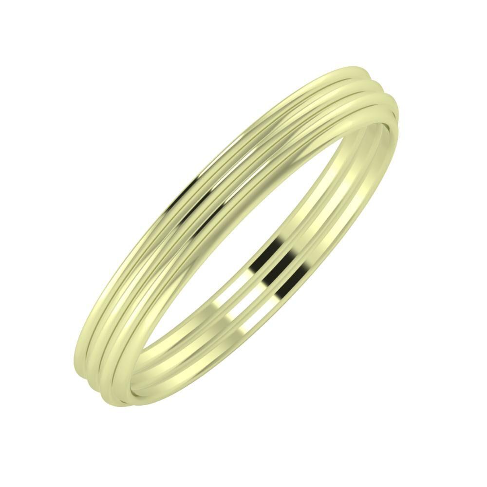Agrippína - Agrippína - Agrippína 3mm 14 karátos zöld arany karikagyűrű