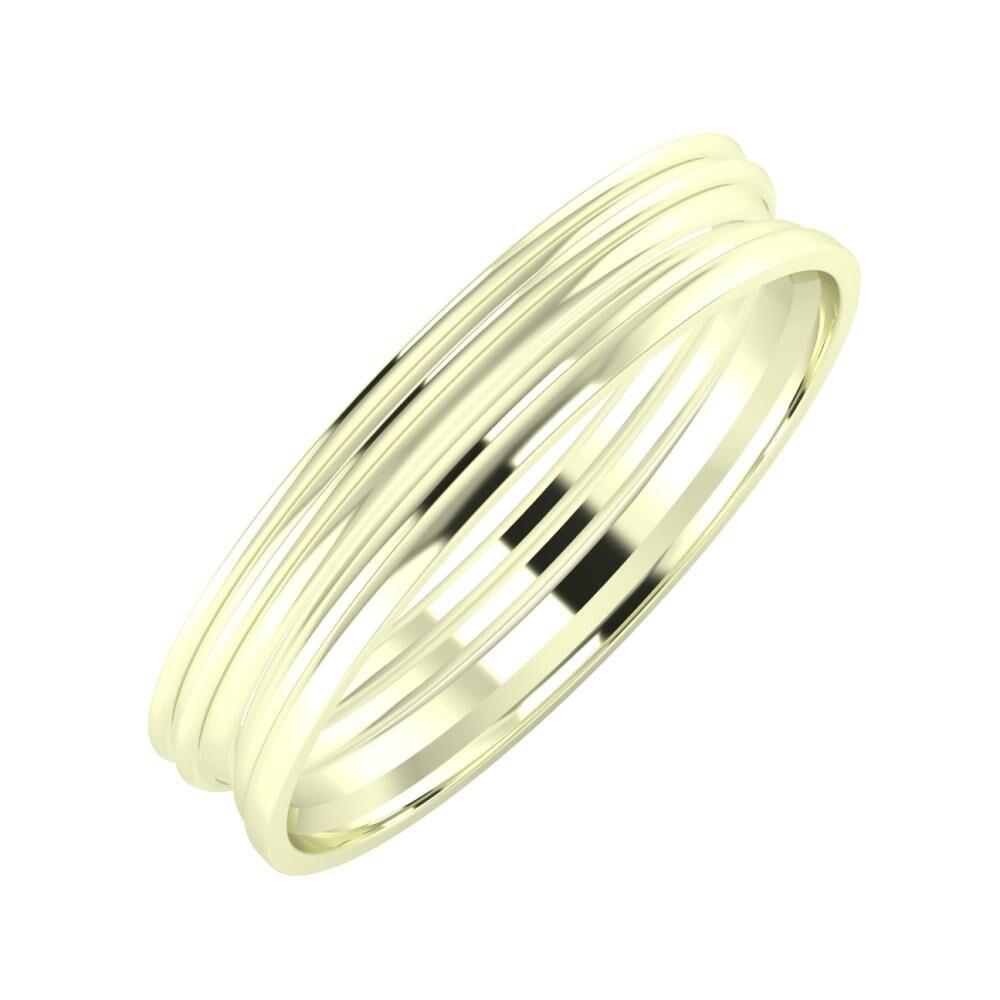 Agrippína - Agrippína - Aida 4mm 22 karátos fehér arany karikagyűrű