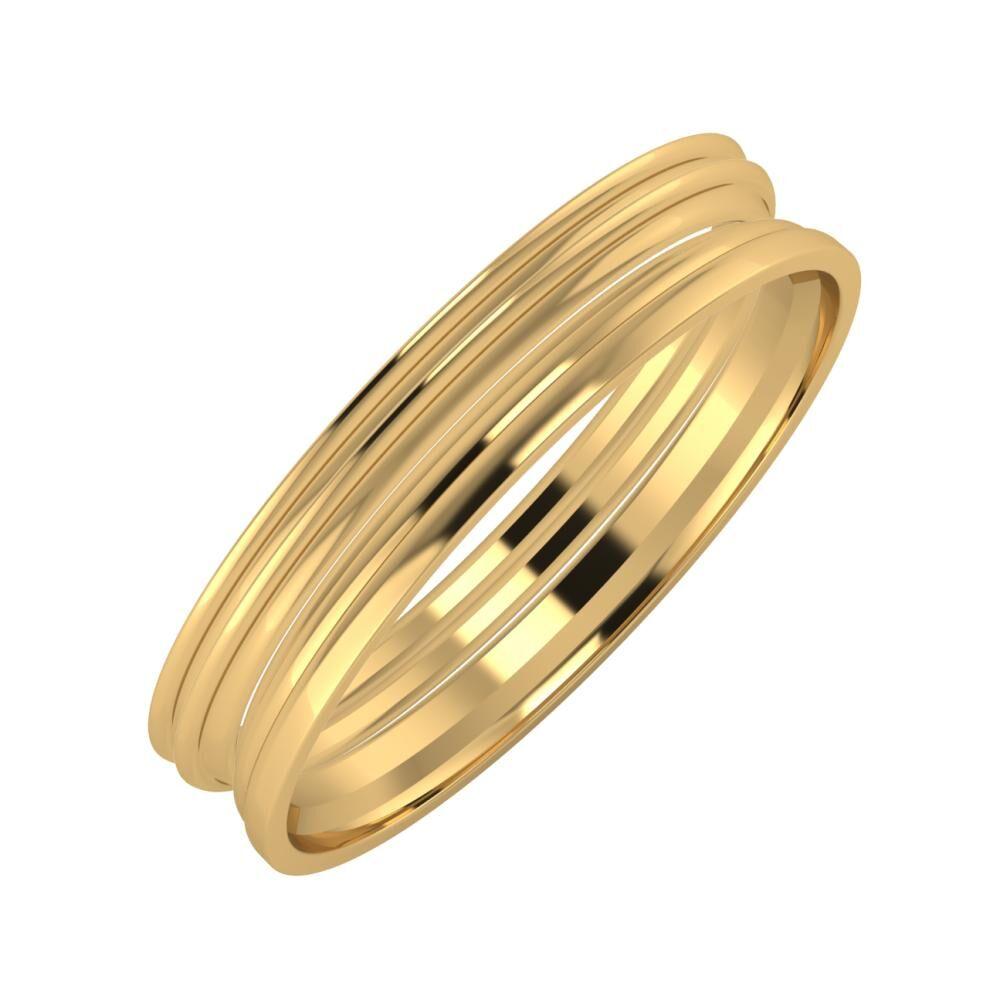 Agrippína - Agrippína - Aida 4mm 22 karátos sárga arany karikagyűrű
