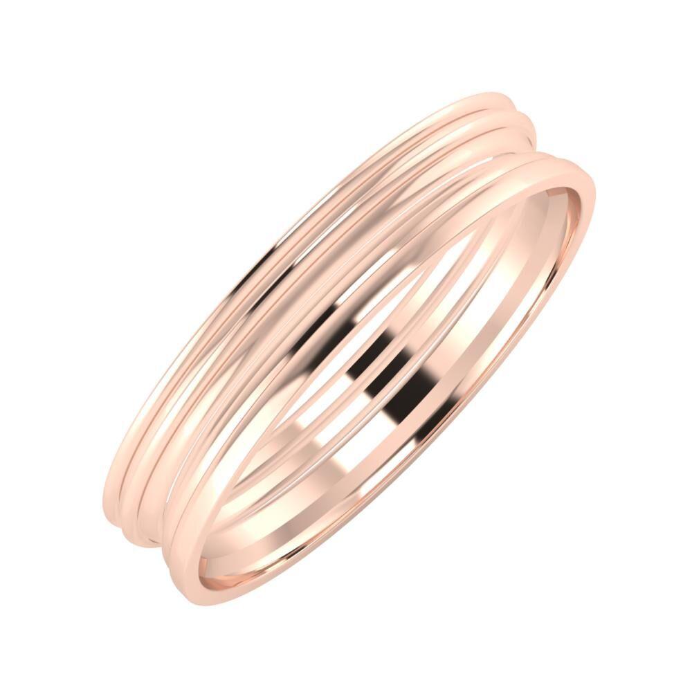 Agrippína - Agrippína - Aida 4mm 14 karátos rosé arany karikagyűrű