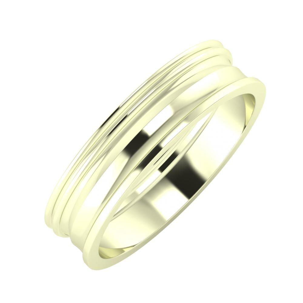 Agrippína - Agrippína - Ainó 5mm 22 karátos fehér arany karikagyűrű