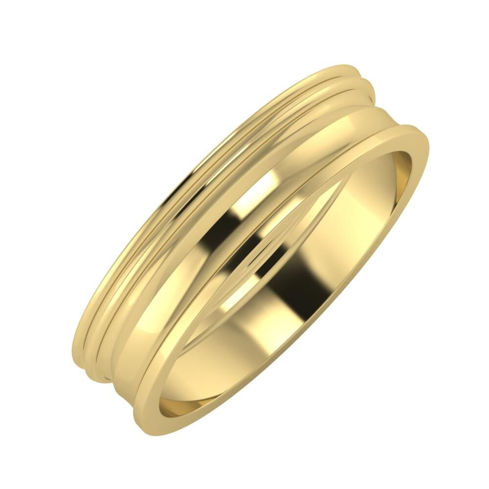 Agrippína - Agrippína - Ainó 5mm 14 karátos sárga arany karikagyűrű