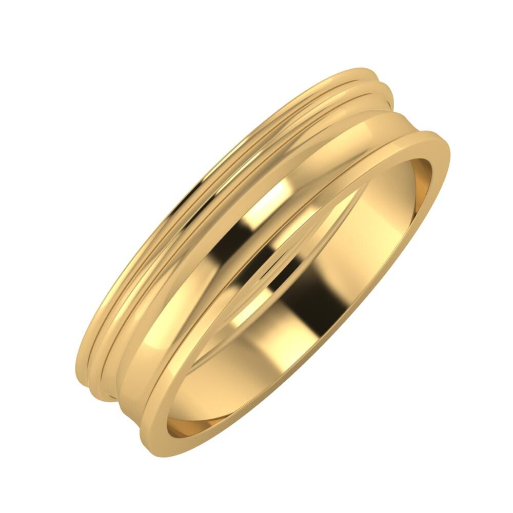 Agrippína - Agrippína - Ainó 5mm 18 karátos sárga arany karikagyűrű