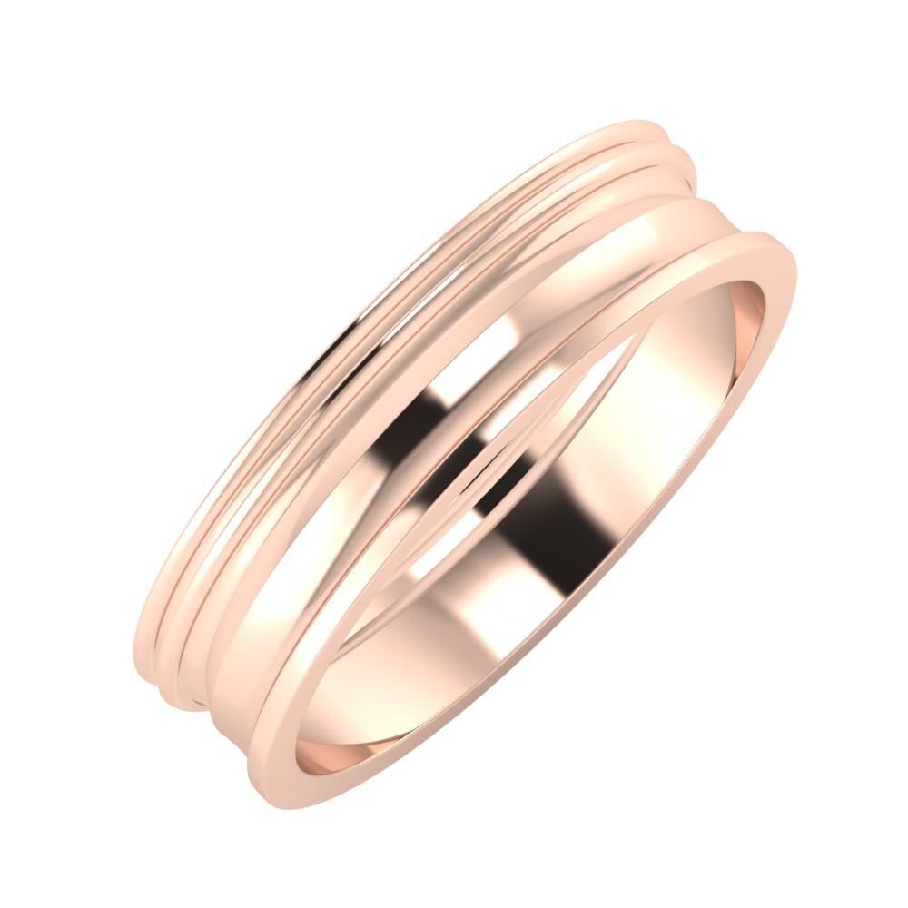Agrippína - Agrippína - Ainó 5mm 18 karátos rosé arany karikagyűrű