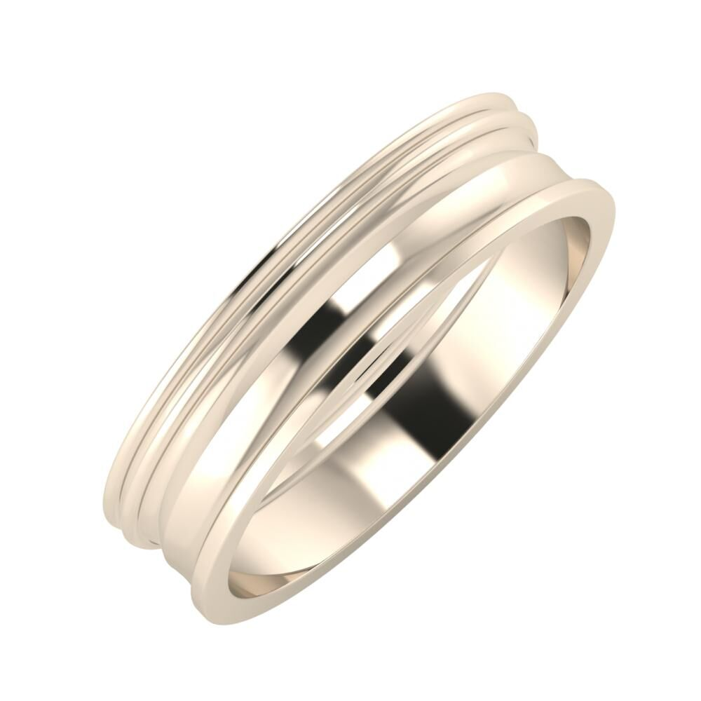 Agrippína - Agrippína - Ainó 5mm 22 karátos rosé arany karikagyűrű