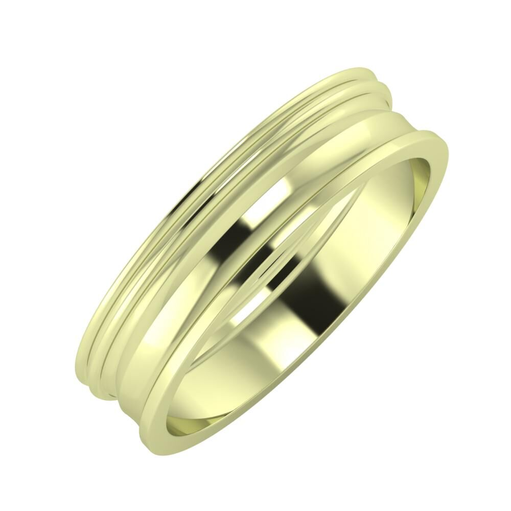 Agrippína - Agrippína - Ainó 5mm 14 karátos zöld arany karikagyűrű