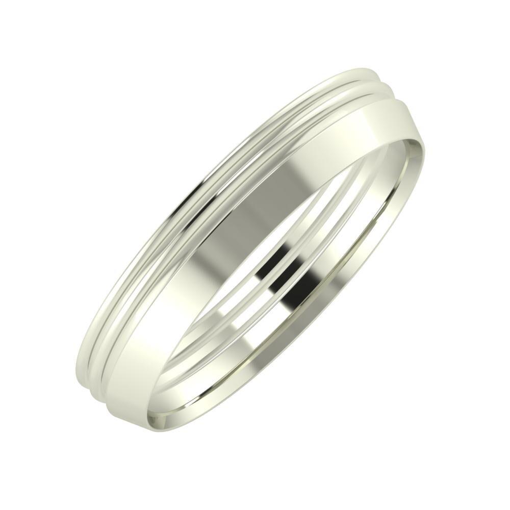 Agrippína - Agrippína - Aisah 4mm 14 karátos fehér arany karikagyűrű