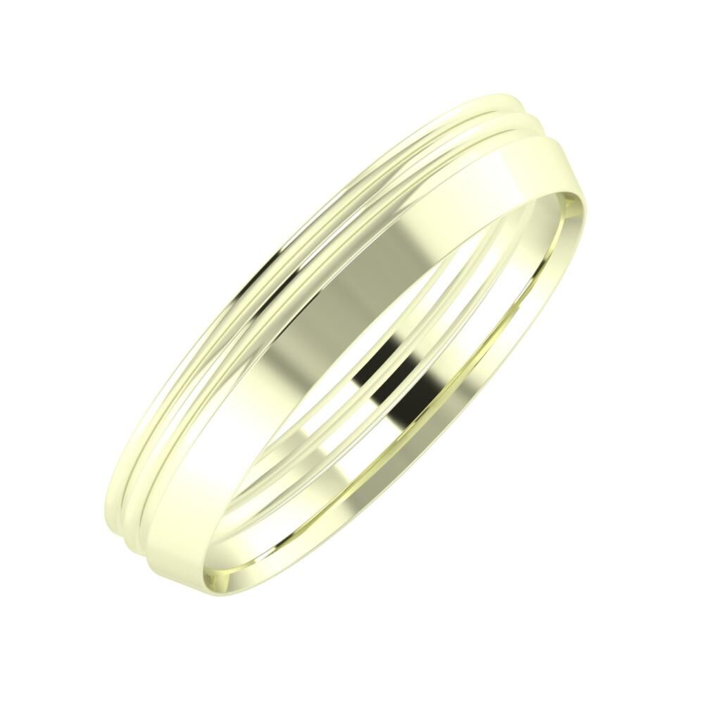 Agrippína - Agrippína - Aisah 4mm 22 karátos fehér arany karikagyűrű