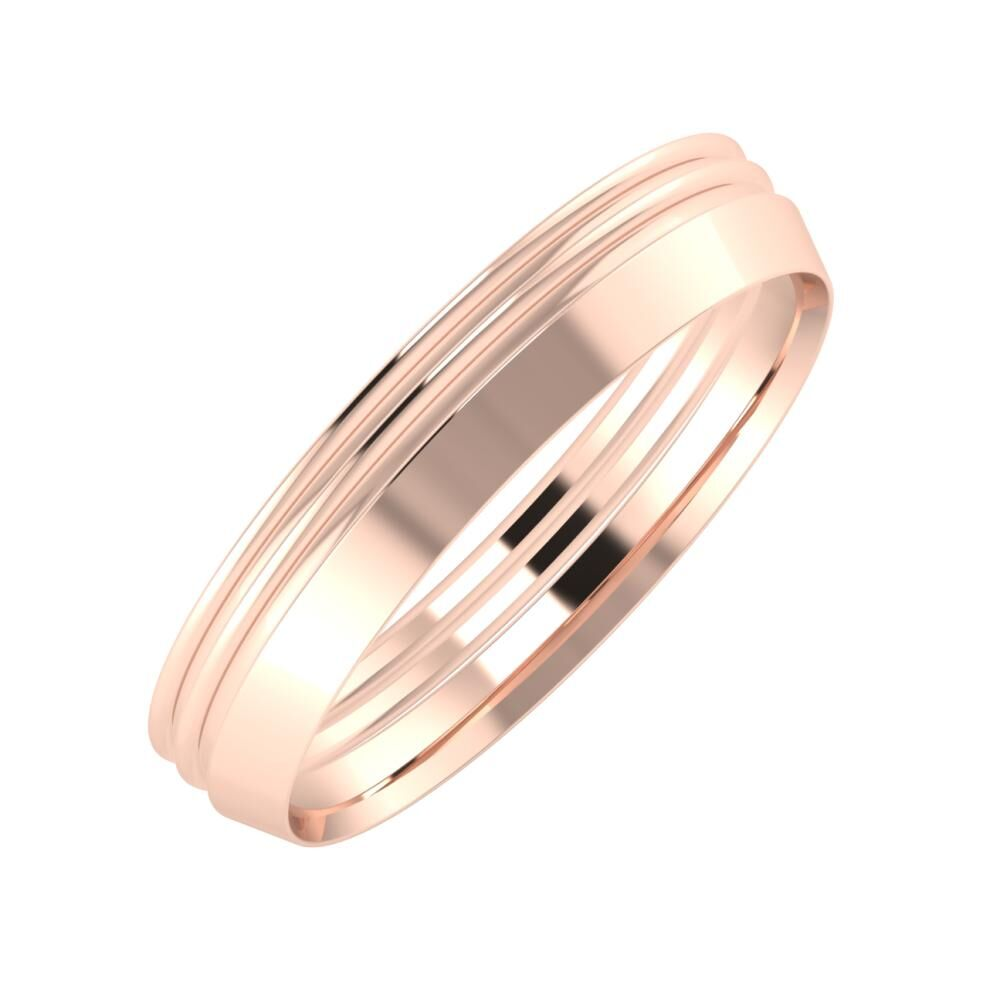 Agrippína - Agrippína - Aisah 4mm 14 karátos rosé arany karikagyűrű