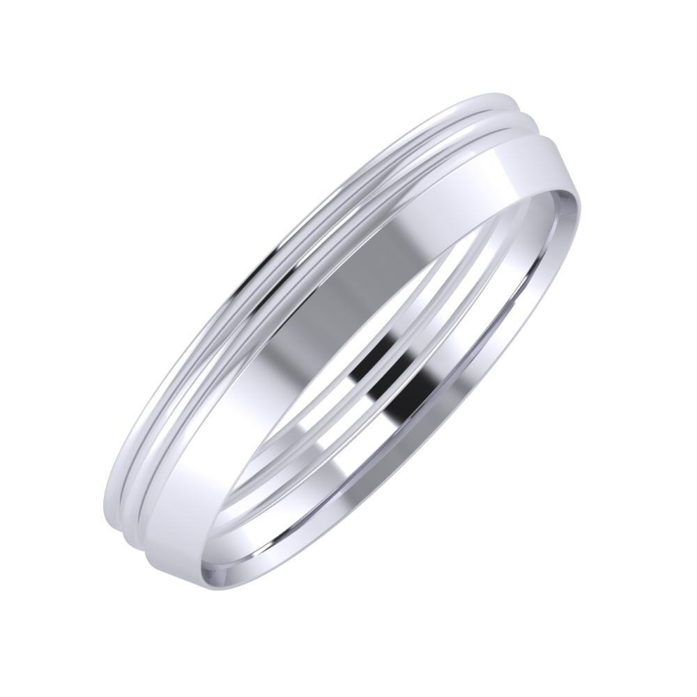 Agrippína - Agrippína - Aisah 4mm platina karikagyűrű