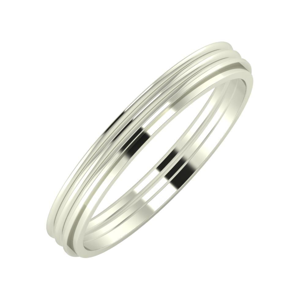 Agrippína - Agrippína - Ájlin 3mm 14 karátos fehér arany karikagyűrű