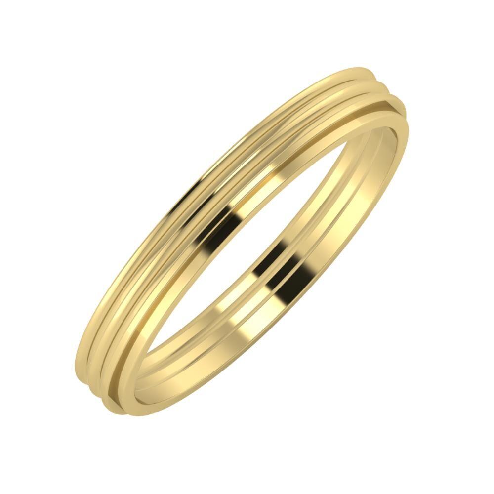 Agrippína - Agrippína - Ájlin 3mm 14 karátos sárga arany karikagyűrű