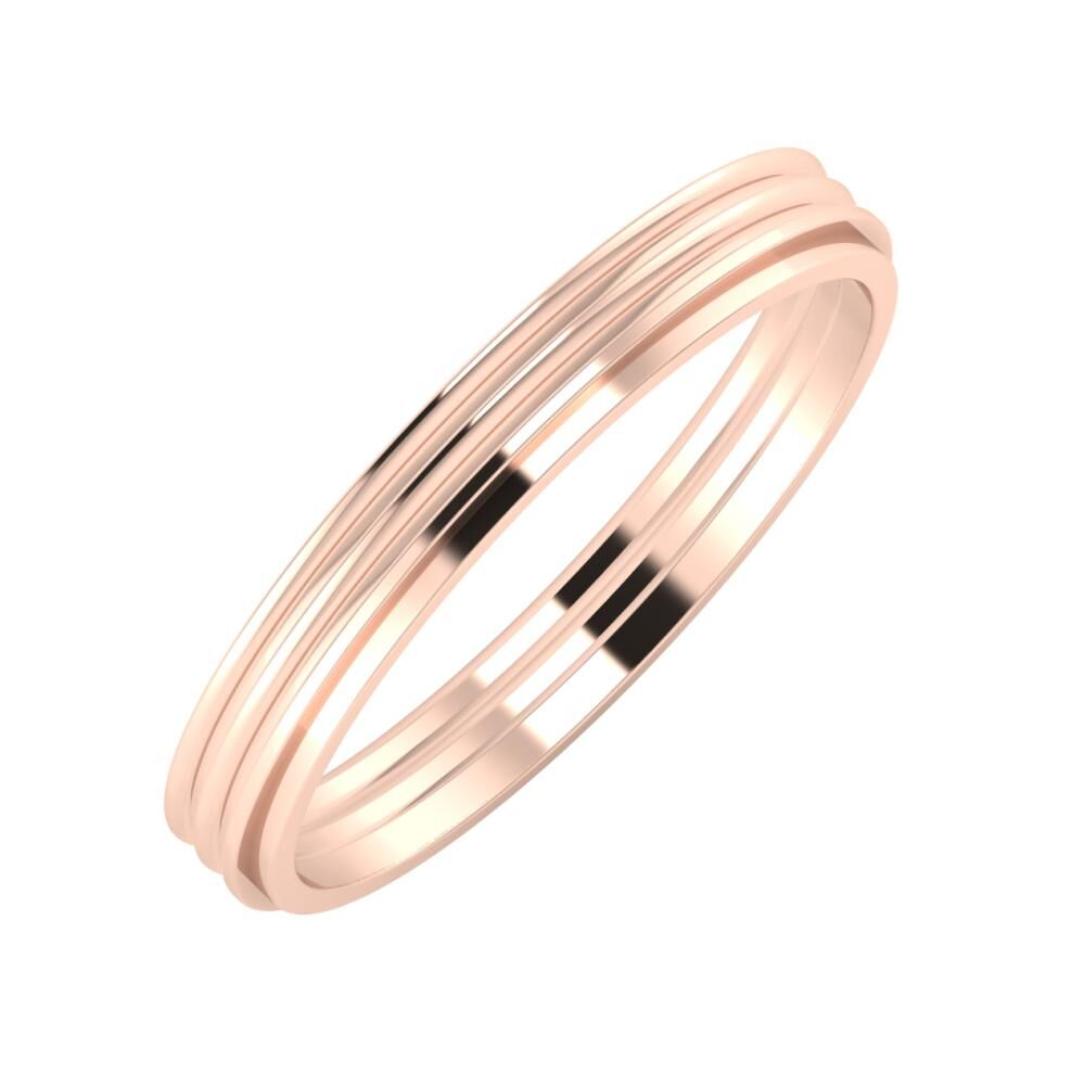 Agrippína - Agrippína - Ájlin 3mm 14 karátos rosé arany karikagyűrű