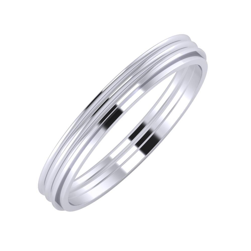 Agrippína - Agrippína - Ájlin 3mm platina karikagyűrű