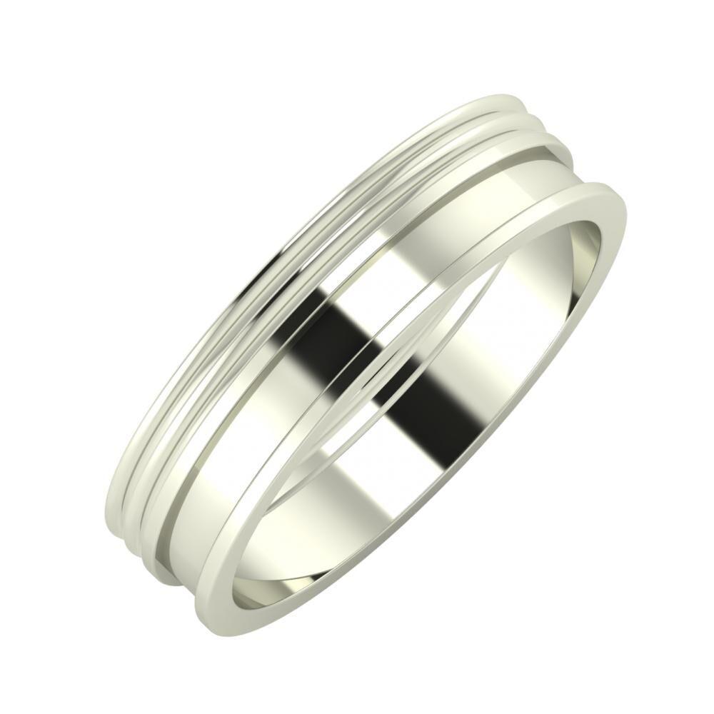 Agrippína - Agrippína - Ajnácska 5mm 14 karátos fehér arany karikagyűrű