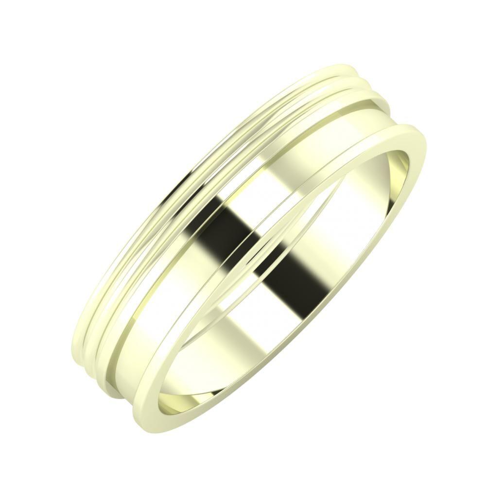 Agrippína - Agrippína - Ajnácska 5mm 22 karátos fehér arany karikagyűrű