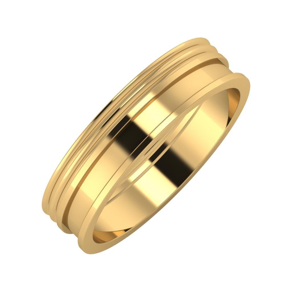 Agrippína - Agrippína - Ajnácska 5mm 18 karátos sárga arany karikagyűrű