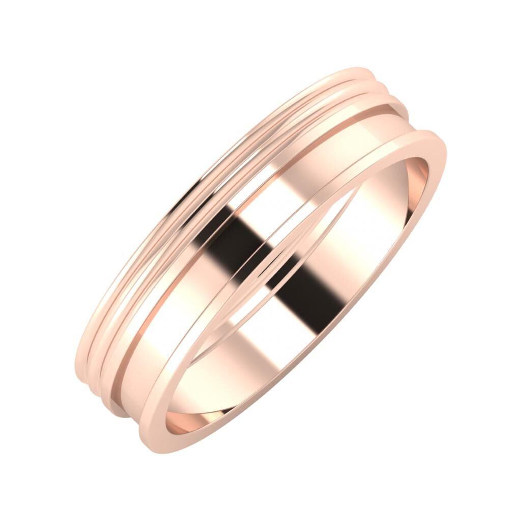 Agrippína - Agrippína - Ajnácska 5mm 14 karátos rosé arany karikagyűrű