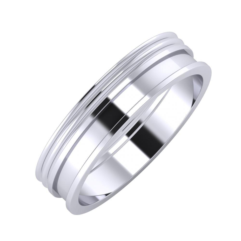 Agrippína - Agrippína - Ajnácska 5mm platina karikagyűrű