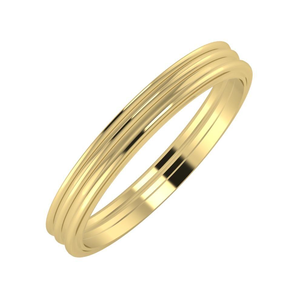 Agrippína - Agrippína - Ajra 3mm 14 karátos sárga arany karikagyűrű