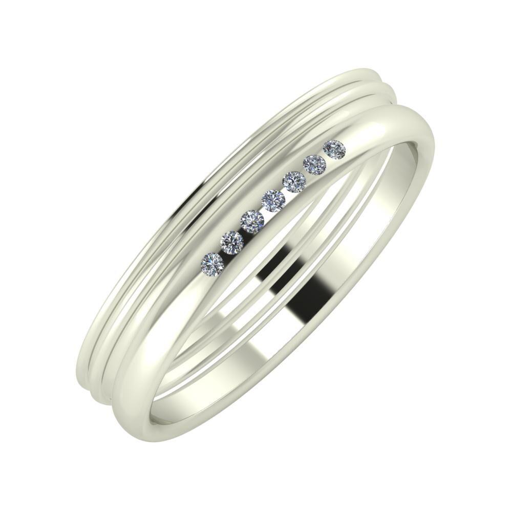 Agrippína - Agrippína - Albertina 4mm 14 karátos fehér arany karikagyűrű